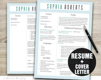 instant download resume template cv template resume cover letter template resume template word - Cover Letter Template For Cv