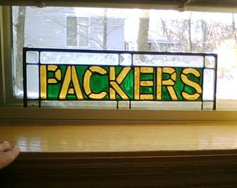 Packers Stained Glass