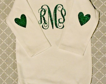 Lovely Monogrammed Onesie (Long sleeve)