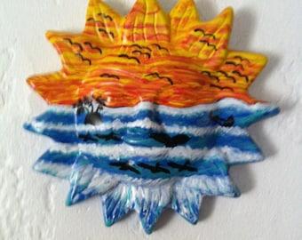Popular Items For Ceramic Sun On Etsy