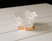Stencil Flower Garden fence clipart panels Basket Cupcake Wrappers laser cut holder wraps collars lace liner