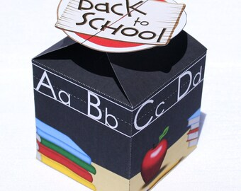 Back to School Small Treat Box (Instant Download)