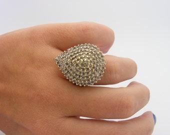 2.50 Carat Total Weight Diamond Cluster Ring. 10K Yellow Gold