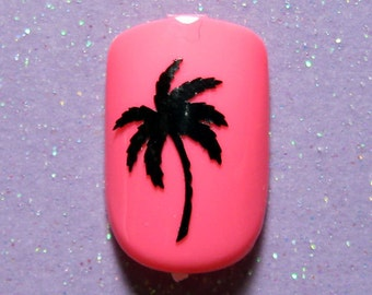 Palm tree vinyl nail decal stickers