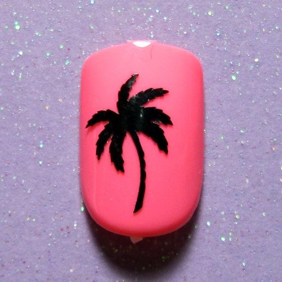 Palm tree vinyl nail decals -nail art stickers- nail vinyl- nail art ...