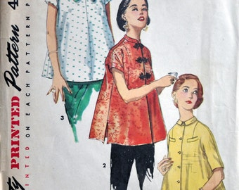 Vintage 1960's Simplicity 1552 'Simple to Make' Maternity Tops Sewing Pattern - Size 13