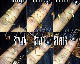 Hand crafted Midi Rings