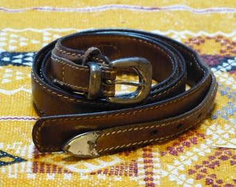 Leather belt M