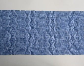 Handwoven Shadow Weave Table Runner