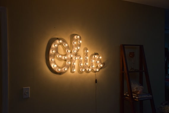 Ohio Marquee Lighted Sign Metal Letter Lights State Signs