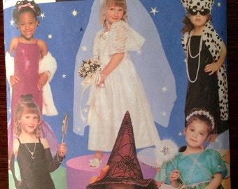Simplicity 8885 - Girl's Costume for Flapper, Witch, Bride and Socialite   - Size Child 4 - 7