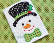 Snowman Digital Christmas Applique Design - Christmas - Holiday - Jack Frost - Monogram - Chrismas Embroidery Design - Machine Embroidery