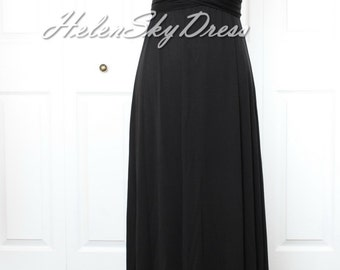 Bridesmaid Dress Infinity Dress black long Wrap Convertible Dress