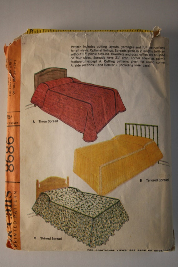 1906s Easy Bedspread Sewing Pattern Bed Cover Twin Or Full