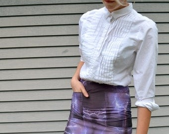 violet lightning storm mini skirt