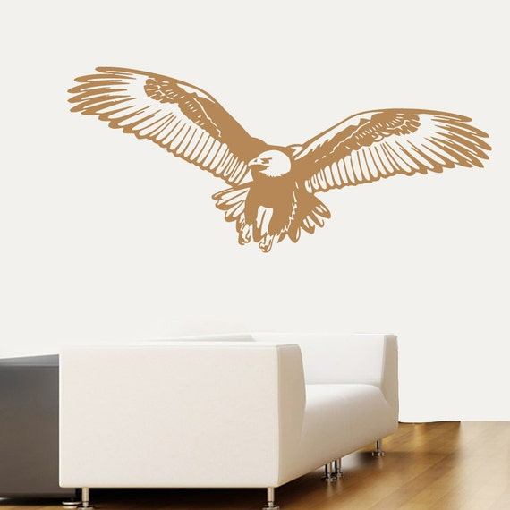 Eagle wall decals flying eagle birds animal by for Eagle wall mural