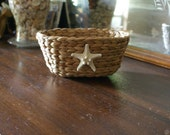 Starfish basket - storage basket - organizer - coastal decor - beach - seashells - shells