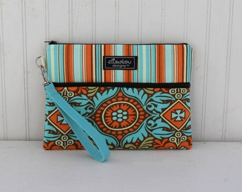 Kindle / iPad Mini / Nook / eReader / Padded Pouch / Wristlet / Bag / Kashmir