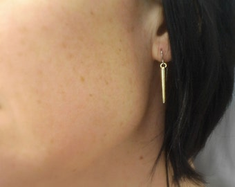 Mini Spike Earrings - Silver Earrings - Gold Earrings