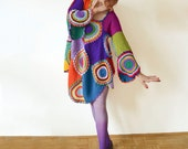 Plus Size Clothing Long Sleeved Retro Dress/Tunic - MADE TO ORDER