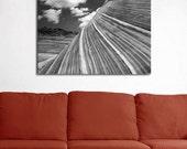 Desert Photography, Arizona Landscape, Fine Art Black and White Print, Geological Decor, Geology Print, Textured Art, Film Photography