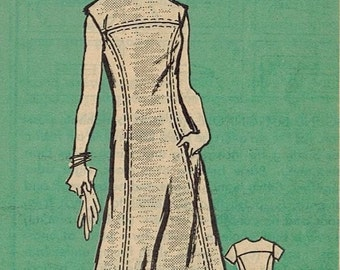 1970s Mail Order 4642 Vintage Sewing Pattern Misses A-line Dress Size 18 Bust 40