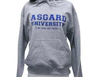 Asgard University Sweater  - THOR Hoodie Sweatshirt - Unisex Sizes S, M, L, XL