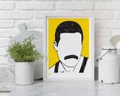 Freddie Mercury - decorative screen print