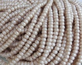 6/0 Opaque French Vanilla Pearl Terra Colorfast Czech Glass Seed Bead Strand (CW135)