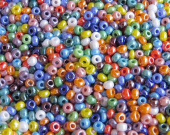 6/0 Opaque Luster Color Mix Czech Glass Seed Beads 20 Grams (CS47)