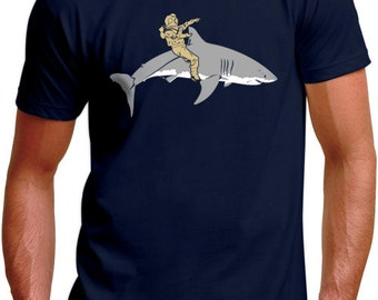 Diver and Shark TShirt - Mens, Womens, & Kids Sizes Toddler-3XL Available