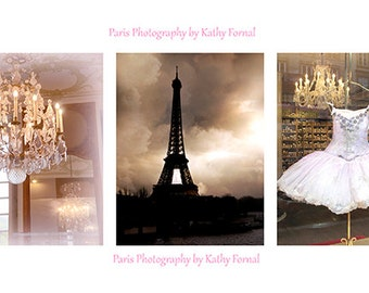 Paris Photography, Paris Prints, Paris Girls Room Decor, Paris Photographs, Paris Chandelier Ballet Eiffel Tower Art Prints, Paris Wall Art