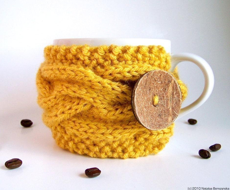 Knitting PATTERN Tea Cozy Pattern Coffee Cozy Pattern Mug