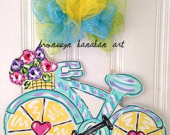 Bicycle Door Hanger - Bronwyn Hanahan Art