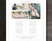 Photography Price List Template - Pricing Sheet Guide - Wedding Photographer Investment - Print Collections - m0062
