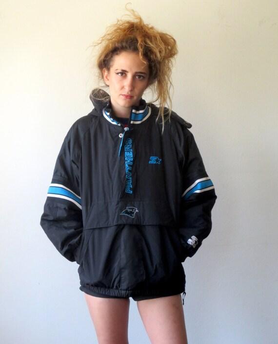 starter jacket 90s throwback carolina panthers football