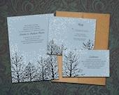 DIY- Winter Magic, printable Wedding Invitation Suite with rsvp, info card