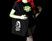 Night Of The Living Dead Black Zippered Tote Bag Zombie
