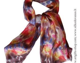Hand painted Silk scarf JOY