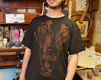 Black Wolf  Tee Shirt