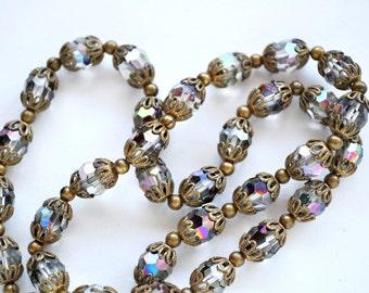 Lovely Vintage Aurora Borealis Necklace