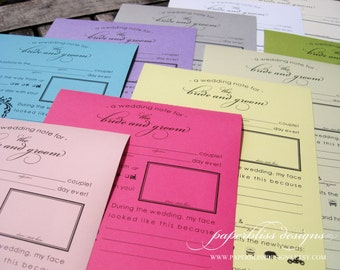 A4 Wedding Mad Libs - Instant Download PDF - Unique Guestbook Alternative, DIY Printable Madlib, Guestlibs, Mad lib