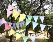 Shhh it's a Pastel Fabric Banner Rainbows Everybody love's a Rainbow Bunting Shabby Chic Bunting