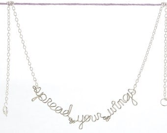 Spread Your Wings Necklace - Inspirational Jewelry