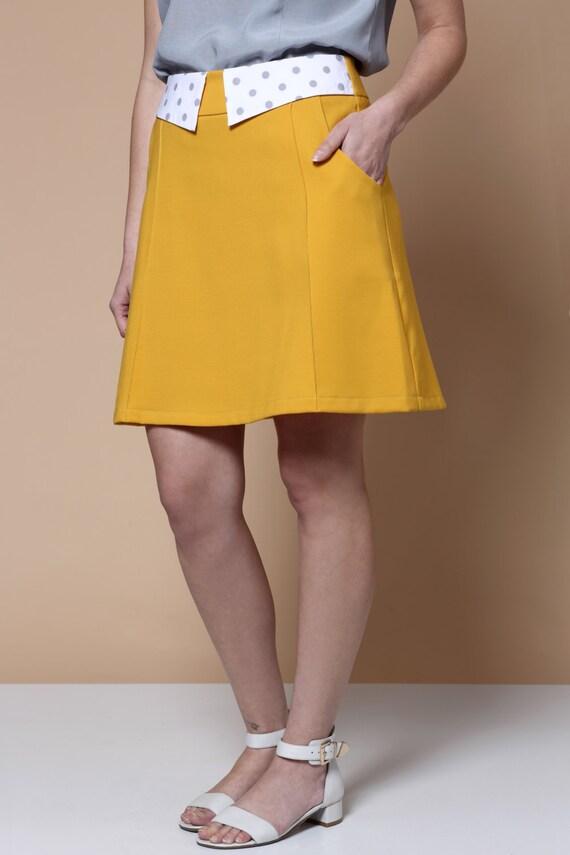 vente jupe jaune mini jupe jupe moutarde womens jupe jupe. Black Bedroom Furniture Sets. Home Design Ideas