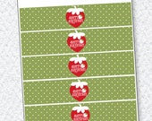 Strawberry Party PRINTABLE Drink Labels (INSTANT DOWNLOAD) from Love The Day