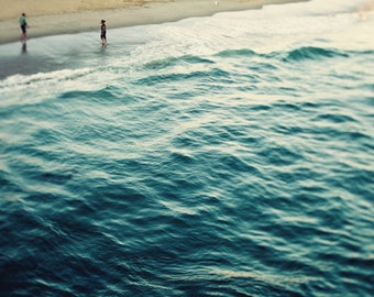 "Beach Photography Ocean Photography California Landscape Photography Santa Monica Beach  Nautical Beach Decor - ""YOU, ME, and the SEA"""