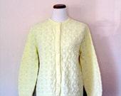 FREE USA SHIPPING / Vintage Sweater / 60's Cardigan / Large