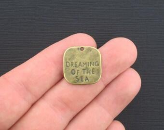 6 Sea Dream Charms Antique Bronze Tone - BC938