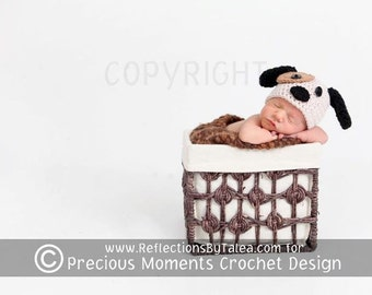 Baby Puppy Hat, Newborn Puppy Hat, Baby Boy Puppy Hat, Baby Crochet Hat Photo Prop